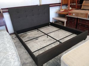 New gray king bed frame for Sale in El Paso, TX