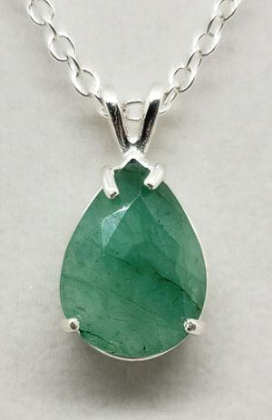 Natural 16x12mm Pear Emerald Necklace for Sale in Justin, TX
