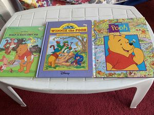 Winnie the Pooh 3 Assorted Large Books for $5 for Sale in Boston, MA