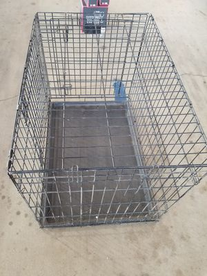 "48"" Dog Crate Double Door w/Divider w/Tray Folding Heavy Duty Metal P for Sale in Houston, TX"