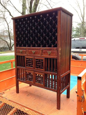 Antique Wine Cabinet Rack Vintage Wood for Sale in Roswell, GA