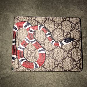 Gucci Brown Leather Snake Wallet - Never Used for Sale in Suwanee, GA