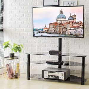"Corner Floor TV Stand with Swivel Mount for Most 32""-65"" LED, LCD, OLED and Plasma Flat or Curved Screen TVs, Height Adjustable 3-in-1 Entertainment for Sale in Ontario, CA"