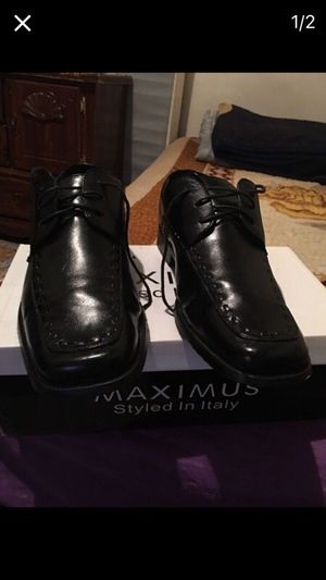 Italian black leather shoes for Sale in Bronx, NY