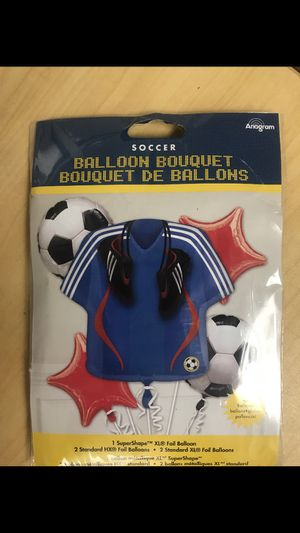 Soccer balloon bouquet for Sale in Waterbury, CT