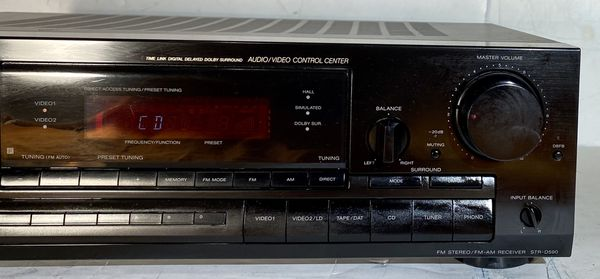 Sony STR-D590 Control Center Stereo Receiver Amplifier Tuner Dolby Surround Control Center