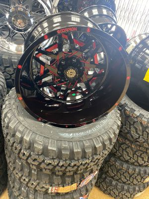 20x12 wheels and tires set 33125020 for Sale in Phoenix, AZ