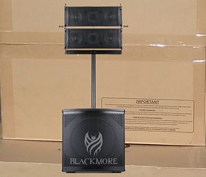 """Powered 15"""" Inch Subwoofer Bluetooth MP3 USB Aux Mic Input Blackmore Satellite Top Speaker System Karaoke DJ Cables Included 🚨 for Sale in Los Angeles, CA"""