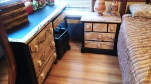 Dresser,nightstand and desk. Art meets functionality for Sale in Los Angeles, CA