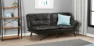2 black leather futons for Sale in Elizabeth City, NC