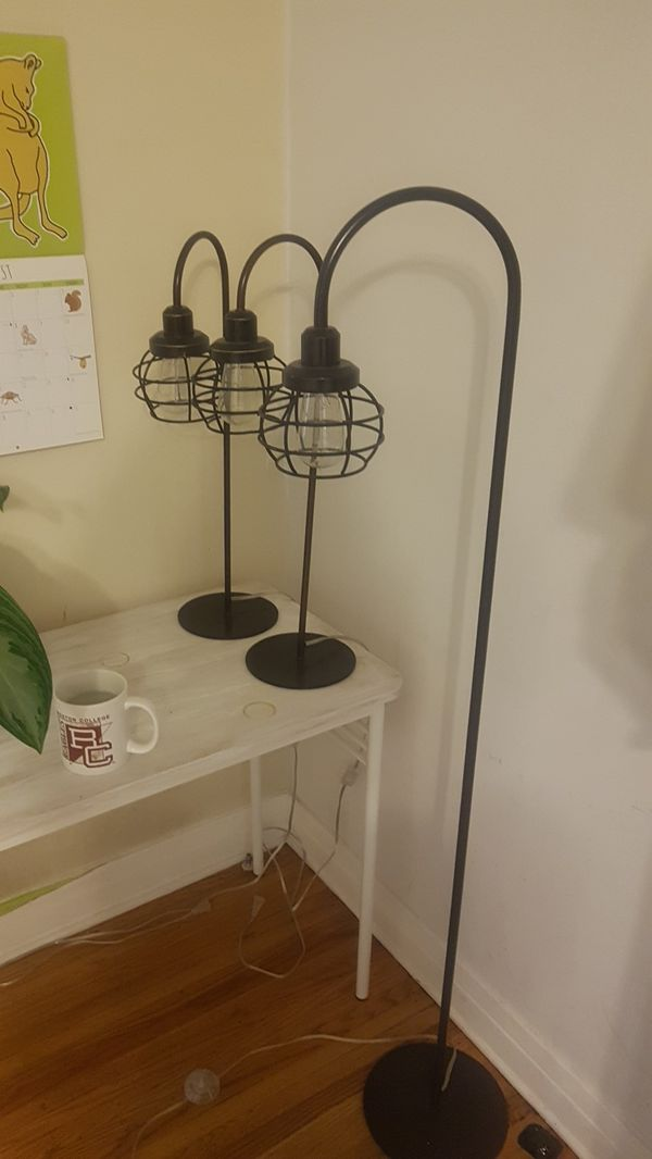 3 x stylish lamps