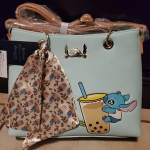 CUTE Loungefly Disney Stitch Boba Purse 👛 😍 for Sale in Colton, CA