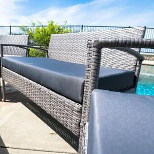SHIPPING ONLY 4 Piece Patio Furniture Garden Rattan Wicker Outdoor Set w/Table Couch and Chairs for Sale in Las Vegas, NV