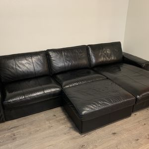 Top grain Leather Couch IKEA for Sale in Tigard, OR