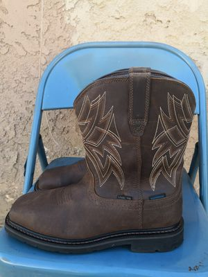 Ariat steel toe work boots size 9.5D for Sale in Riverside, CA