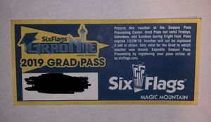 SIX FLAGS MAGIC MOUNTAIN SEASON PASS for Sale in Perris, CA