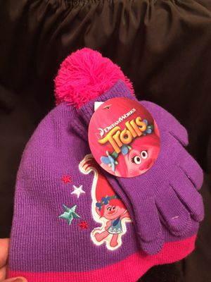 Trolls child's hat and gloves for Sale in Friendship, TN