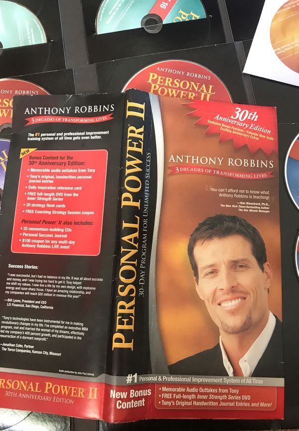 Anthony Robbins Personal power two, 30 day program for unlimited success,  30th anniversary edition for Sale in Huntington Beach, CA - OfferUp