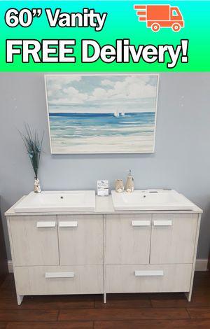 "60"" bathroom vanity 🚛FREE DELIVERY! for Sale in Coral Springs, FL"