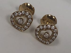 "Chopard ""Happy Diamonds"" Stud Yellow Gold Heart Earnings for Sale in Miami, FL"