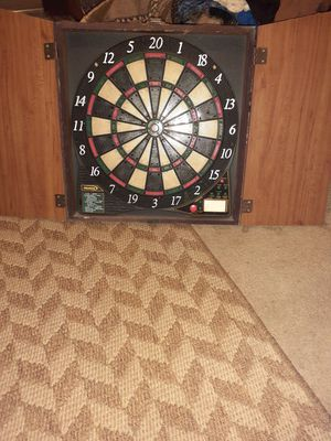 Electric Dart Board with cabinet for Sale in Mitchell, IL
