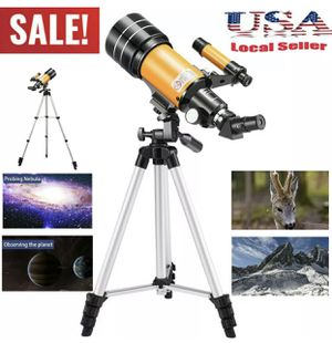 300x70mm Refractor Astronomical Telescope Eyepieces Tripod Travel Wild HD View for Sale in Perris, CA