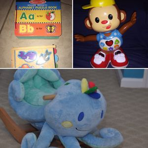 Great Xmas presents Ollie Rocker plays music & Casey Dancing Monkey & Puzzles for Sale in Auburndale, FL