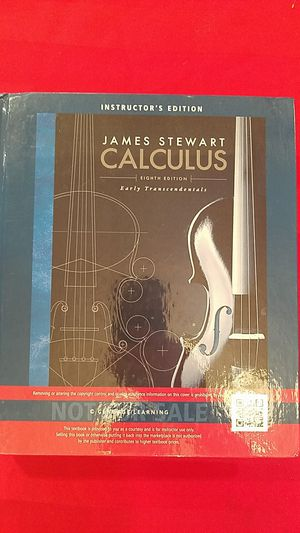 James Stewart Calculus Instructors Edition Eighth 8 Edition for Sale in US