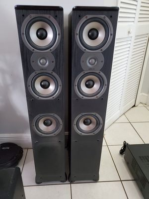 Speakers polk audio yamaha receiver klipsch subwoofer towers surround sound for Sale in Miami, FL