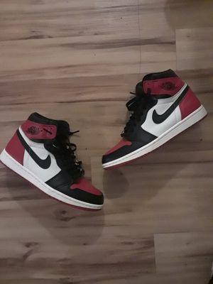 size 8 Jordan 1 bred toe for Sale in Philadelphia, PA