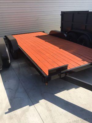 New 2020 8.5x16 wood deck car hauler for Sale in Stevenson Ranch, CA