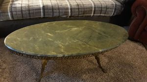 Antique Japanese Marble and brass table for Sale in San Angelo, TX