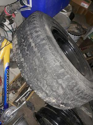 2 tires w 2 black rims for Sale in Longmont, CO