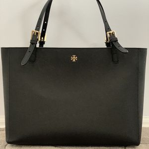 Tory Burch Black Leather York Tote - Large for Sale in Yardley, PA