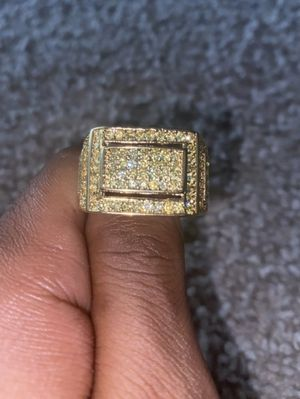 Gold Gods 18k Gold Plated Ring w/ Cubic Zirconia (Size 12) for Sale in Alexandria, VA