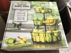 3 Tier Basket Stand for Sale in North Ridgeville, OH