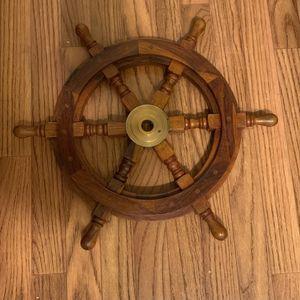 Nautical Steering Wheel Decor for Sale in Atlanta, GA