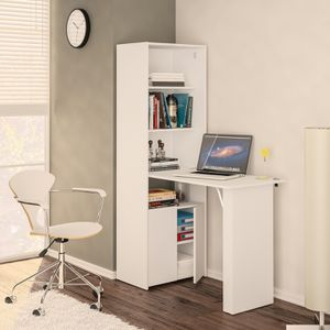 Multipurpose Cabinet with Desk, White for Sale in Beaumont, CA