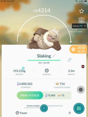 Slaking, pokemon for Sale in Cross Plains, TX