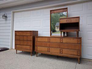 Mid-Century Modern bedroom set Dresser with mirror Chest Nightstand for Sale in Duluth, GA