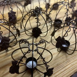 (10) Metal Pumpkin Votive Candle Holders for Sale in Brentwood, TN