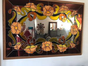 Antique stained glass mirror for Sale in Clovis, CA