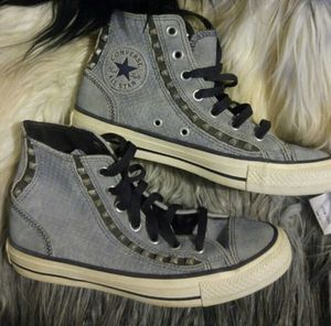 Grey Converse All Stars for Sale in Arlington, TX