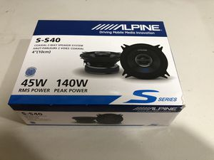 "Alpine S-Series 4"" 2-way car speakers for Sale in Gardena, CA"