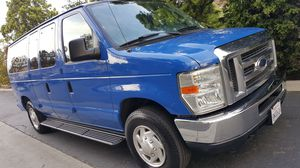 2012 FORD E350 XLT ECONOLINE PASSENGER / CARGO VAN - ONE OWNER / CARPOOL STICKERS / 03.21 TAGS for Sale in Carson, CA