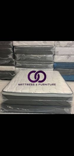 FULL MATTRESS BED PILLOW TOP COMFORT FREE BOX SPRING 🎗️Mattress&Furniture🎗️ QUEEN FULL KING TWIN 🎗️ COLCHONES NUEVOS Y CAMAS for Sale in Miramar,  FL