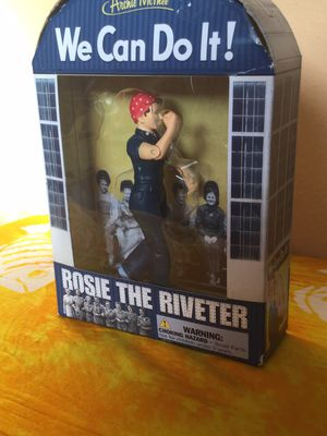 Archie McPhee Rosie the Riveter figure for Sale in Tampa, FL