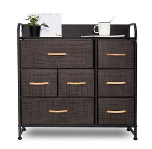 NEW Dresser Organizer with 7 Drawers, Fabric Dresser Storage Tower - BROWN for Sale in Ontario, CA