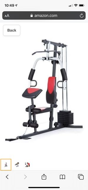 Home gym weight stack full all body workout machine system (chest, back, arm, and leg exercises) for Sale in South El Monte, CA