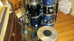 2 drum sets..need tlc...pearl and peace 2 bass drum pedals. .no symbols unfortunately .snare is pearl a d i have a radler with it...300.00$ or B.O for Sale in Bridgewater, MA